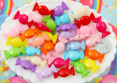 Candy Beads - 25mm Bright & Cute Candy Shape Acrylic or Resin Beads - 45 pc set