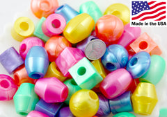 Jumbo Novelty Beads - 25mm Oversized Pearly Chunky Beads - Candy Color Gumball Bubblegum Acrylic or Resin Beads - 1/2 lb - Approx 45 pc set