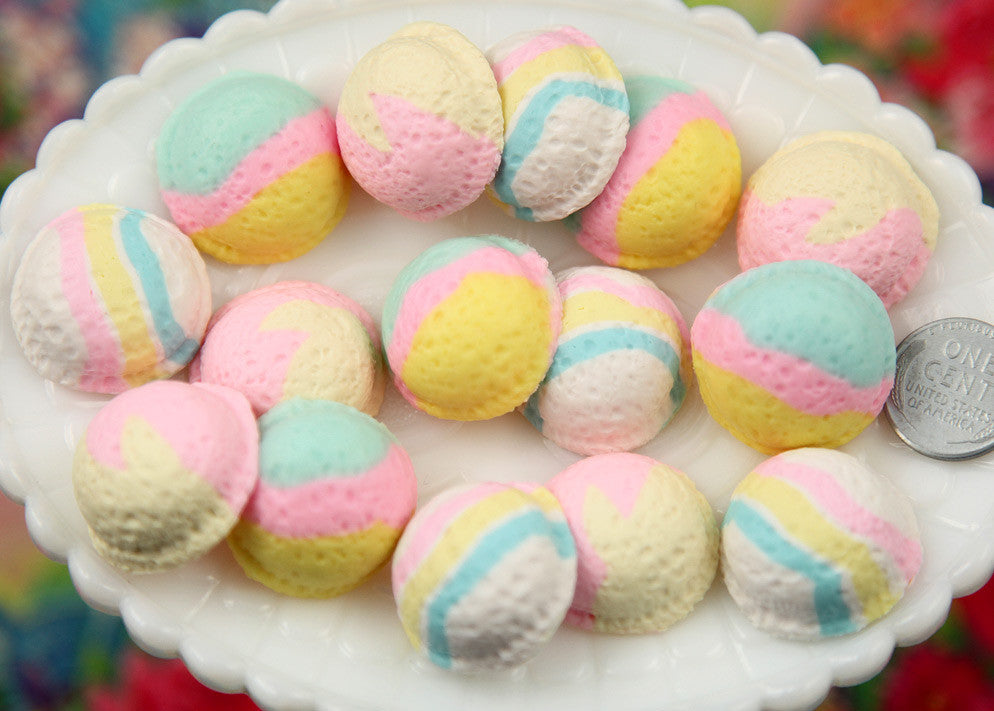 23mm realistic pastel colored ice cream scoop cabochons for making fake food crafts 6 - Pastel Food Coloring