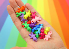 Plastic Charms - 16mm Candy Bears Acrylic or Plastic Charms - 30 pc set