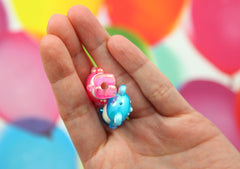Kawaii Beads - 28mm Cute AB Teddy Bear Bead Chunky Acrylic or Plastic Beads - 10 pc set
