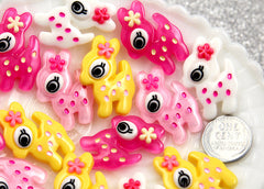 32mm Cute Baby Deer Cabochons – 6 pc set