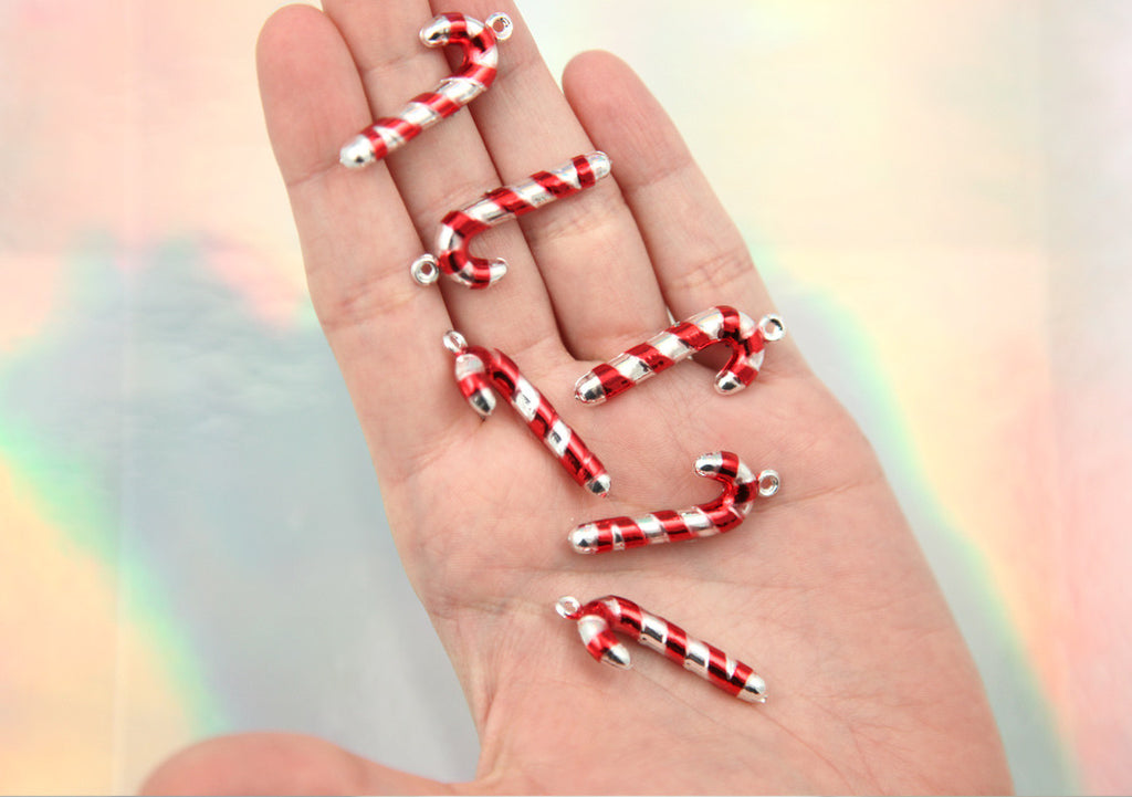 34mm metallic candy cane christmas stripe resin acrylic or plastic 34mm metallic candy cane christmas stripe resin acrylic or plastic charms or pendants 7 pc mozeypictures Choice Image