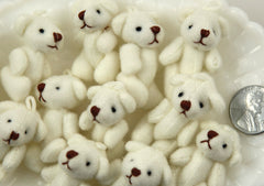 38mm Cute Mini Teddy Bear Fuzzy Soft Plush Bears - 3 pc set