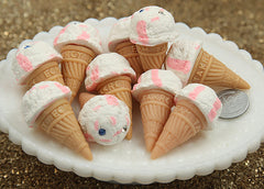 45mm Big Yummy Ice Cream Cone Charms or Cabochons – 3 pc set