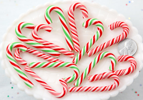 Fake Candy Canes 47mm Super Cute Candy Cane Faux Candy