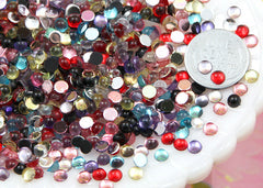 4mm Tiny Round Dew Drop Acrylic Rhinestones or Cabochons - 500 pc set