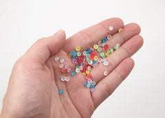 4mm Tiny Pastel Jelly Resin Cabochons - 100 pc set