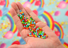 Fake Sprinkles - 30g 4mm Round Nonpareil Plastic Sprinkles, No Hole Beads - 30g bag