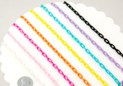 Tiny Plastic Chain - 8mm Tiny Plastic Chain - 20 inches or 55 cm - for Necklaces, Jewelry, Accessories - 4 pcs set