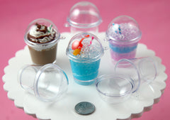 Little Empty Slushie Cups - 52mm Fake Slushie Cups - make your own fake food charms - 4 pc set