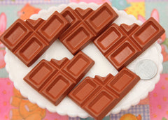 55mm Big Chocolate Bar Resin Flatback Cabochons - 2 pc set
