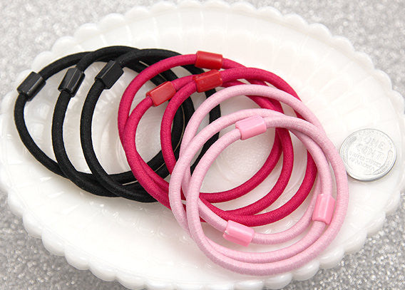 57mm Blank Elastic Hair Bands – 12 pc set