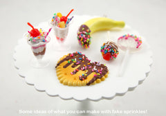 Fake Sprinkles - 5mm Bright Fake Sprinkles Colorful Faux Chocolate Topping Candy Flakes Polymer Clay or Fimo Cabochons - 48 g bag