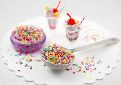 5mm Bright Fake Sprinkles Colorful Faux Candy Polymer Clay or Fimo Cabochons - 48 g bag