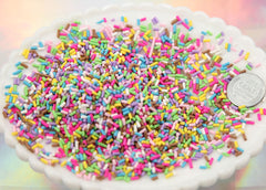 5mm Fake Sprinkles Colorful Faux Candy Polymer Clay or Fimo Cabochons - 48 g bag