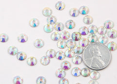 6.5mm AB Crystal Rhinestones - AB Crystal (SS30) - 50 pc set