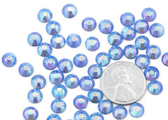 6.5mm AB Violet Blue Crystal Rhinestones - AB Light Sapphire (SS30) - 50 pc set