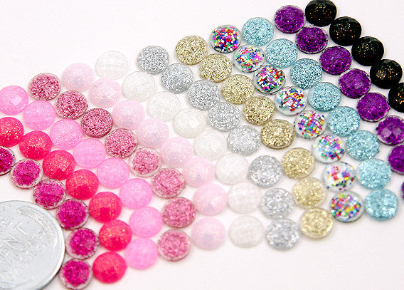 6mm Mini Resin Cabochons - 200 pc set