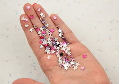 6mm Mini Sparkling Star Acrylic Rhinestones or Resin Cabochons - 1000 pc set