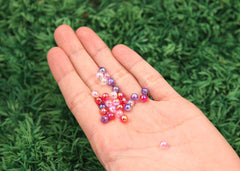 6mm Super Tiny Iridescent Pastel AB Mix Acrylic or Resin Beads - 400 pc set