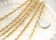 7mm Strong Gold Chain - 8 feet / 2.5 meters