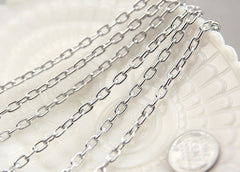 7mm Strong Silver Chain - 8 feet / 2.5 meters