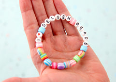 Hearts for Letter Beads - 7mm Little Heart Round Beads for use with Alphabet Beads - 300 pc set
