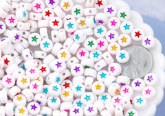 Stars for Letter Beads - 7mm Little Star Round Beads for use with Alphabet Beads - 300 pc set