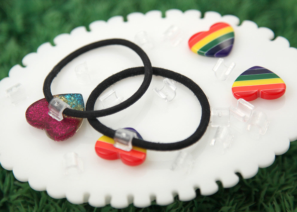 ... 10mm Hair Tie Maker - Clear Plastic Base for Making Your Own Cute Hair  Bands ... 3c49328e8c9