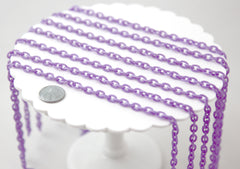Plastic Chain - 8mm Perfect Acrylic or Plastic Chain, Purple - 15 inch length / 39 cm length - For Neclaces and Jewelry - 3 pcs set