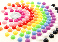 8mm Tiny Candy Mixed Flatback Resin Cabochons - 600 pc set