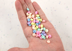8mm Tiny Candy Color Rondelle Pastel Disc Shaped Faux Candies Acrylic or Plastic Beads - Perfect for Fake Candy Necklaces - 200 pc set