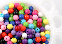 8mm Gumball Bubblegum Resin Beads – 150 pc set