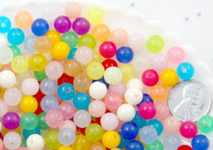 8mm Jelly Candy Translucent Gumball Bubblegum Resin or Acrylic Beads - 150 pc set