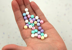 8mm Small Pastel Gumball Bubblegum Plastic Acrylic or Resin Beads – 200 pc set