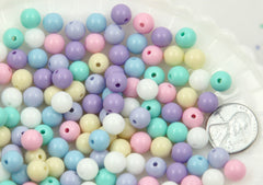 8mm Small Pastel Gumball Bubblegum Plastic Acrylic or Resin Beads – 150 pc set