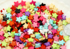 10mm Small Colorful Acrylic or Plastic Star Beads - 200 pcs set