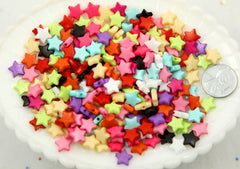 10mm Small Colorful Acrylic or Plastic Star Beads - 500 pcs set