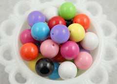 20mm Chunky Gumball Bubblegum Resin Beads - 12 pc set