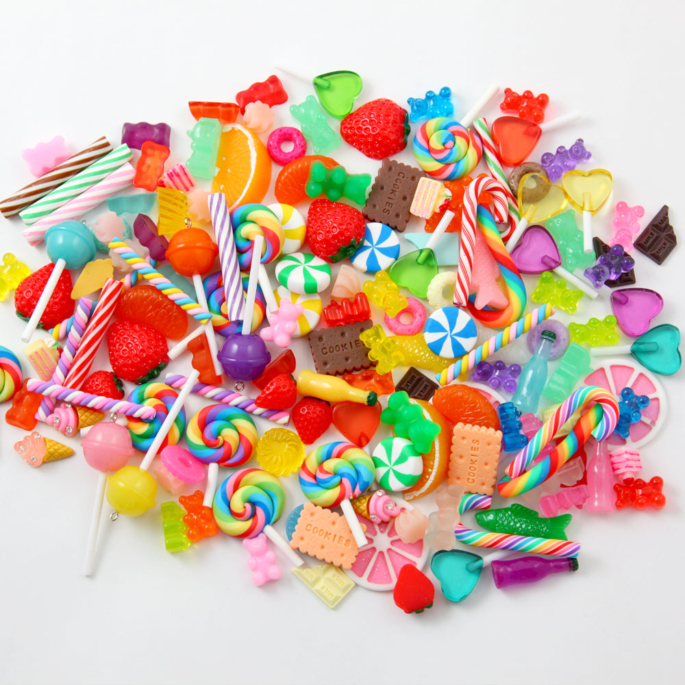 Super Cute Fake Candy for Slime Charms and other crafts! 130+ pcs