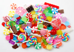 Fake Candy Charms for Slime, Jewelry and other Crafts! 100+ pcs