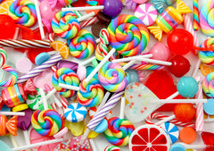 B-Grade Lollipops & Fake Candy Charms Mix - Flawed Pieces Fake Candy Grab Bag - 100+ pcs