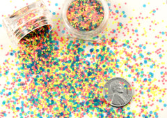 2mm Bright Neon Blue Tiny Matte Glitter Flakes - Mix Loose Glitter, Paliette or Sequins - Solvent Resistant - Set of Two 3g Jars