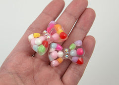 34mm Bubble Bow Resin Cabochons – 5 pc set