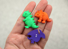30mm Dinosaurs Resin Cabochons – 6 pc set