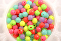 10mm Neon Gumball Bubblegum Resin Beads - 100 pc set