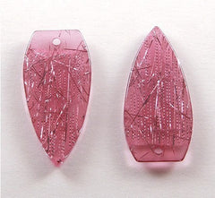 45mm Big Purple Shimmery Threads Pendants - 8 pc set