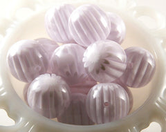 22mm White Blossom Resin Beads - 6 pc set