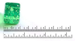 20mm Green Jello Cube Glitter Resin Beads – 10 pc set